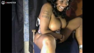Thick Black Chick Fucks Toys On Cam